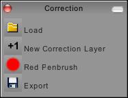 Correction panel