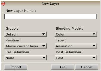 New layer panel