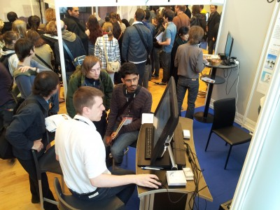 The crowd on the TVPaint booth