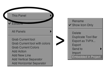 Embed Custom panels into your .tvpp files