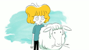 Le petit blond avec un mouton blanc - Metronomic