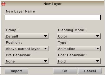 """New Layer"" panel"