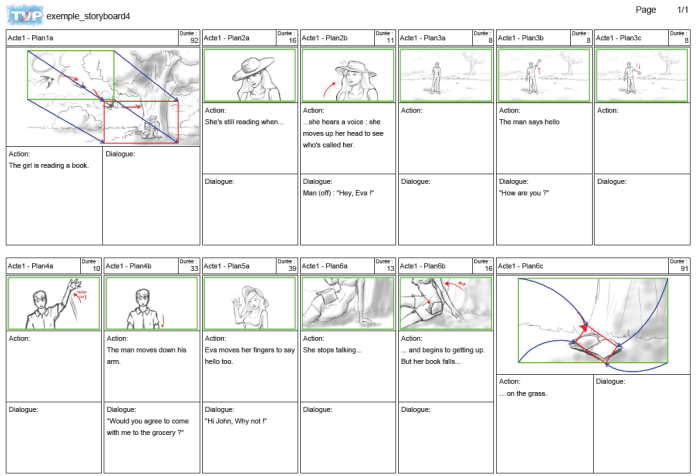 Export your storyboard in PDF