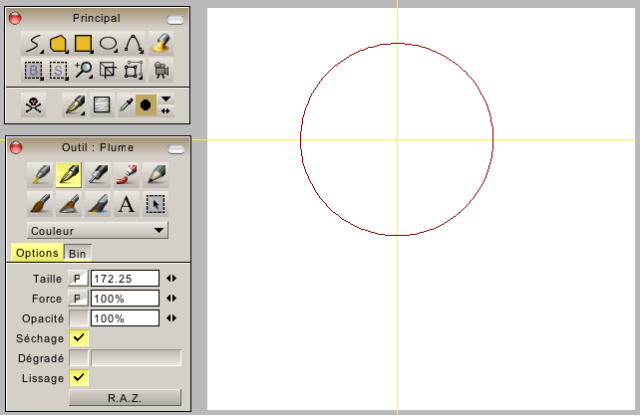 Resize drawing tool with Z