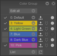 Color Group Panel