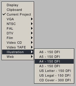 New project preset format